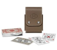 hermés playing cards + holder