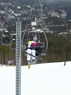 Shannon and Rynne on the lift.