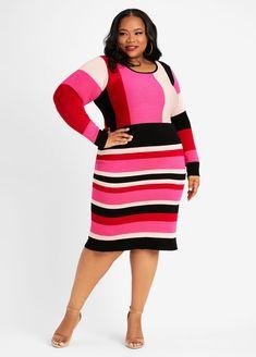 Plus Size Sweater Dress, Plus Size Sweaters, Classy Clothes, Classy Outfits, Dress Clothes, Dress Outfits, Plus Size Dresses, Plus Size Outfits, Full Figure Fashion