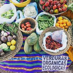 Pachamama's Bounty | Organically grown rainbow fruits + vegetables at the Urubamba Market in the Sacred Valley, Peru. My spirit is endlessly moved by the beauty in which the beings here care for and enliven the soil. Many seeds of inspiration are being planted on this New Moon, for our farmstand next summer on the East End @goodwaterfarms #organic #agriculture #biodynamic #goodwaterfarms #newmoon