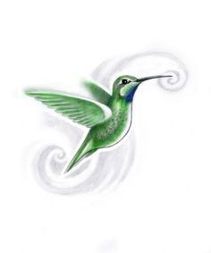 Tattoo Designs by Joseph Gilland: Sid's Hummingbird design
