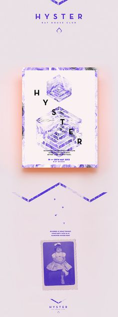 Hyster-soft violet and clean type