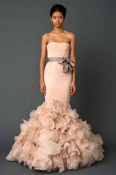 Vera Wang, Fall 2011 Bridal, dress, fashion, wedding dress, blush