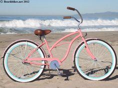 "sixthreezero LIMITED EDITION Paisley Single Speed, Coral Pink - Women's 26"" Beach Cruiser Bike"