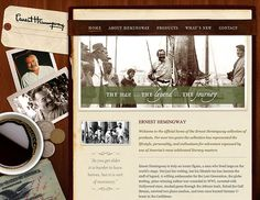 Retro and Vintage In Modern Web Design — Smashing Magazine Vintage Web Design, Modern Web Design, Vintage Designs, Vintage Style, Navigation Design, Retro Typography, Ernest Hemingway, Old Paper, Wedding Website