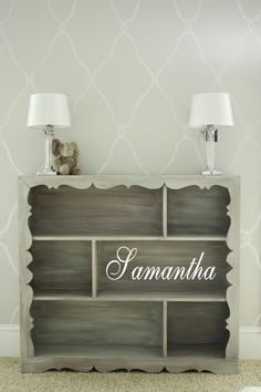 Easy DIY bookshelf - u could do the stencil for this - or just to put on a wall