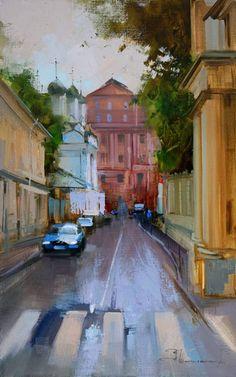 После дождика. Черниговский переулок, автор Алексей Шалаев. Артклуб Gallerix