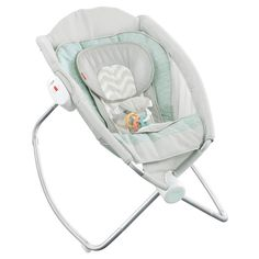 Rock around the clock with a baby seat that helps your little one sleep all naptime or nighttime long. It offers a comfortable incline for babies who need it – and an adjustable recline for babies who don't! A gentle push from you rocks the sleeper back and forth, with optional calming vibrations. The plush newborn insert soothes and helps your little one feel snug-as-a-bug. Additional features include a lightweight design that folds for portability and storage, three-poin...