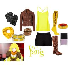 """Yang - RWBY"" by animedowntherunway on Polyvore"