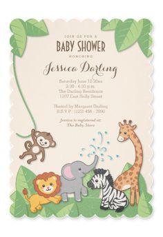 Super Cute Safari Baby Shower Invitations!