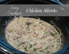 Easy Crockpot Chicken Alfredo