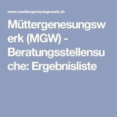 Müttergenesungswerk (MGW) - Beratungsstellensuche: Ergebnisliste