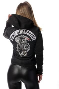 Sons of Anarchy Highway Jacket - Womens Denim Cut   Piston Clothing   Sons of Anarchy Outerwear   Custom Leathers