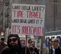Time Travel Protestor