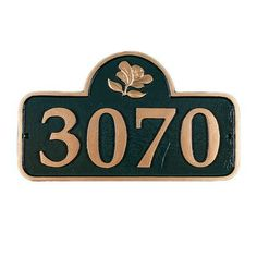 Montague Metal Products Springfield Address Plaque Finish: Brick Red/Silver, Mounting: Lawn