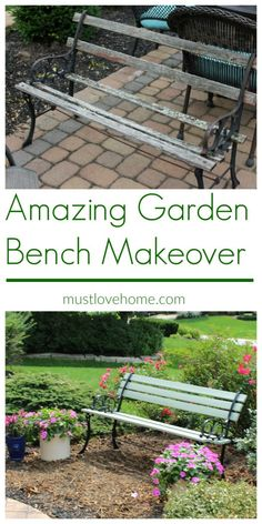 Love a Cinderella story? With an Amazing Garden Bench Recycle, this hideous and broken down garden bench becomes beautiful again with a little hard work! Click over to see the whole story!