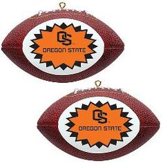 Topperscot Oregon State Beavers Two Mini Replica Football Ornaments