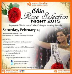 """""""The search is on for the next Ohio Rose of Tralee! Irish American, International Festival, Ohio, Centre, Search, Twitter, Rose, Columbus Ohio, Pink"""