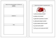 ACTIVIDADES PARA TRABAJAR LA COMPRENSIÓN LECTORA el cuento de la araña Conversation, Reading Comprehension, Read And Write, Kids Education