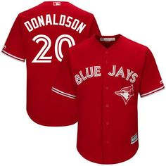 MLB Youth Toronto Blue Jays Josh Donaldson Baseball Jersey Josh Donaldson, Toronto Blue Jays, Baseball Jerseys, Cool Names, Major League, Scarlet, Mlb, Youth, Cool Stuff