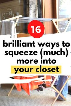 If your closet is could use with a good decluttering, check out these storage hacks for your closet. Budget friendly closet organizing ideas DIY. Learn these quick and easy tips for how to organize your closet. Best Closet Organization, Bookshelf Organization, Laundry Room Organization, Closet Storage, Organization Hacks, Clothing Organization, Storage Hacks, Diy Storage, Baskets For Shelves