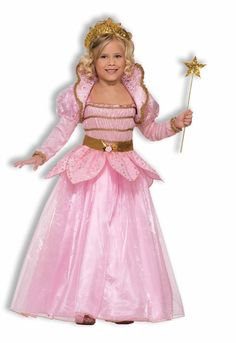 LITTLE PINK PRINCESS glenda good witch girls kids fairy costume halloween LARGE #ForumNovelties