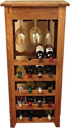 planes de estante del vino sencillo