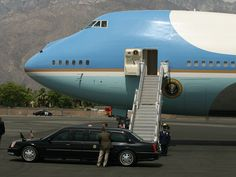 The presidential motorcade arrives as Air Force One is positioned at Palm Springs International Airport on Sunday, June 9, 2013 for President Barack Obama to leave Southern California following a weekend summit at Sunnylands with President Xi Jinping of China. Crystal Chatham/The Desert Sun