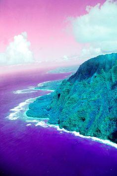 Island in the sun Art Print by Amy Sia #purple #pink #dreamscape