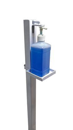 Soporte dispensador de desinfectante de manos   Etsy Microsoft, Alcohol En Gel, Hand Sanitizer Dispenser, Folder Design, Classy Cars, Iron Steel, Tiny House Plans, Gate Design, Metal