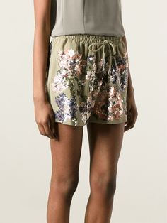 Givenchy Sequined Track Shorts - Donne Concept Store - Farfetch.com
