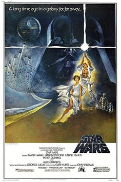 Star Wars: Episode IV - A New Hope (1977) - Directed by George Lucas. With Mark Hamill, Harrison Ford, Carrie Fisher, Alec Guinness. Luke Skywalker joins forces with a Jedi Knight, a cocky pilot, a Wookiee, and two droids to save the galaxy from the Empire's world-destroying battle-station, while also attempting to rescue Princess Leia from the evil Darth Vader.