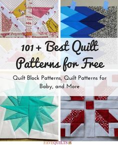 101+ Best Quilt Patterns for Free: Quilt Block Patterns, Quilt Patterns for Baby, and More | FaveQuilts.com-We've put together a list of the most popular, most enticing projects that have been featured on our website in the past year. You can't go wrong with these awesome free quilt patterns!