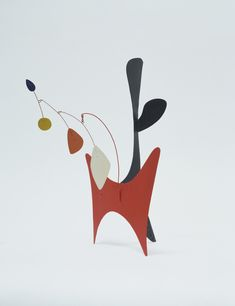 """*M*  Alexander Calder. Untitled. 1939.  Medium:     Painted sheet aluminum and steel wire  Dimensions:     14 5/8 x 9 x 10 7/8""""  Credit:     Kay Sage Tanguy Bequest.  citation: """"Alexander Calder. Untitled. 1939 