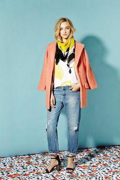 Mina Dale / Feisty Coral w/ Boyfriend Flo / Light Blue Jean