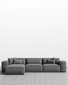 Sit back in contemporary and mid-century modern sofas and sectionals. Living Room Sofa Design, Home Living Room, Living Room Designs, Modern Sectional, Sectional Sofa, Lounge Sofa, Couches, Mid Century Modern Sofa, Mid Century Sofa