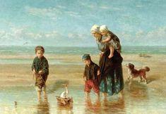 Jozef Israels (1824-1911) Kinderen aan zee, ca. 1863