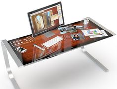 Mesa perfeita para um produtor multimídia trabalhar!