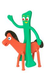 I loved these guys: Gumby and Pokey: The Original Bendable Buddies