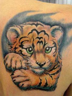 animals, tattoos, 3d, tattoo, designs, ideas, art, cat, tiger cub
