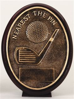 Nearest the Pin Golf Resin Trophy Plaque