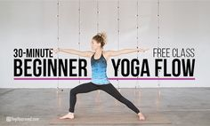 This beginner yoga class with have you feeling strong and invigorated, yet also more enlightened on how to approach the most common yoga poses. Yoga Videos For Beginners, Free Yoga Videos, Beginner Yoga Video, Bikram Yoga, Vinyasa Yoga, Iyengar Yoga, Ashtanga Yoga, Beginning Yoga, Yoga For Weight Loss