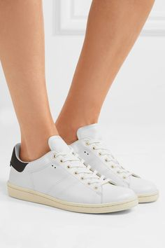 Isabel Marant - étoile Bart Leather Sneakers - White - FR38
