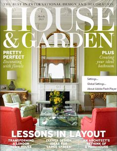 House & Garden UK Magazine released its March 2015 issue, get it soon!