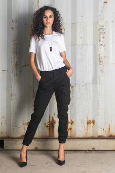 Τhese cotton pants offer the best of military functionality and city-ready style. Slim Fit Pants, Cotton Pants, Capri Pants, Fall Winter, Military, Denim, City, Fitness, Style