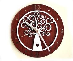 Milk n Honey Designs - Laser cut Tree of Life clock $79.95