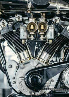 Brough Superior engne close-up.