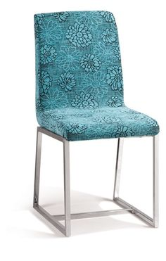 Eho Studios Aqua Blue Microfiber Dining Chair Home Furniture And Patio Modern