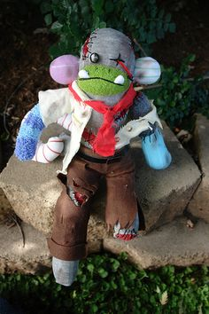 Steve, the Sock Monkey zombie!