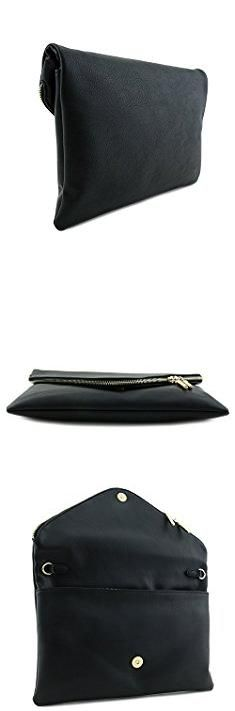 Large Clutch Bags. Large Envelope Clutch Bag with Chain Strap Black.  #large #clutch #bags #largeclutch #clutchbags